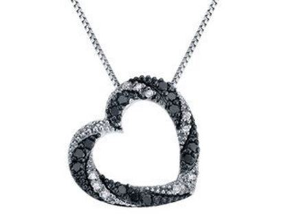 Picture of Black & White Diamond Heart