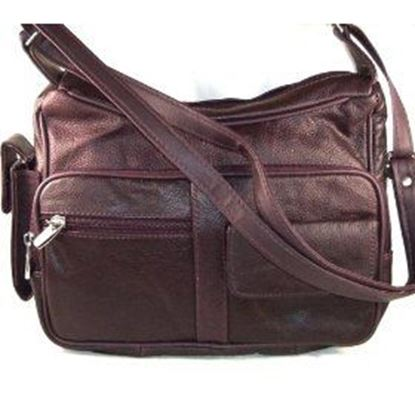 Picture of Genuine Leather Handbag with Cell Phone Holder & Many Pockets